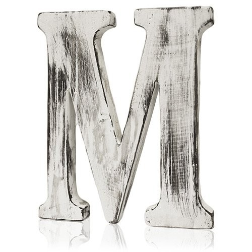 Shabby Chic Letters M