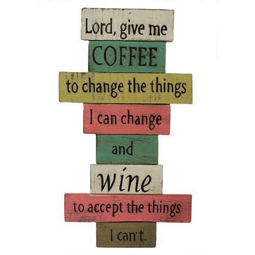 Rough Wooden Signs Lord Give Me Coffee
