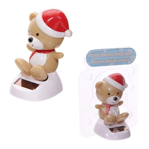 Solar Powered Cute Christmas Teddy Bear