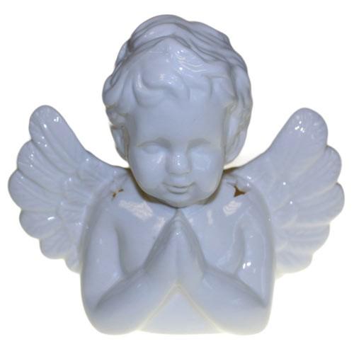 Angel Praying Oil Burner White