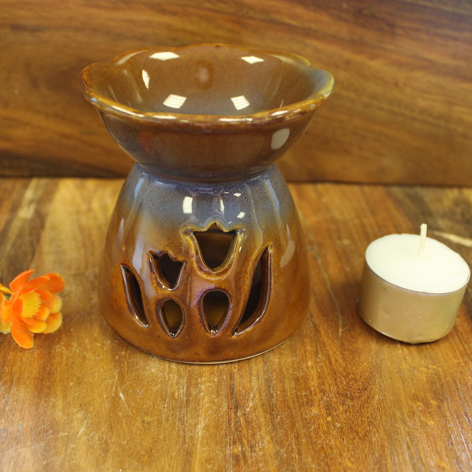 Tulip Design Oil Burner Amber