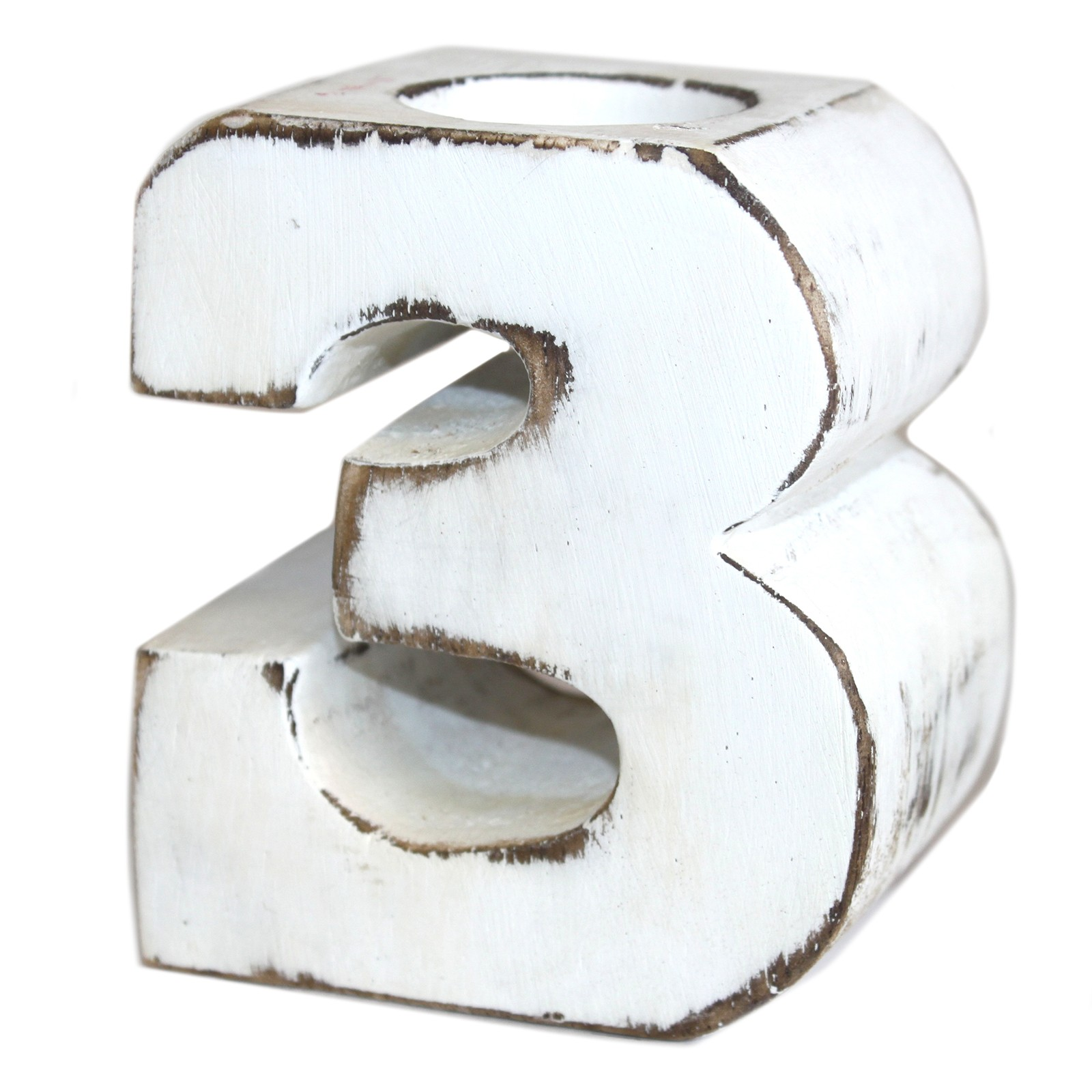 Wooden Birthday Numbers No 3