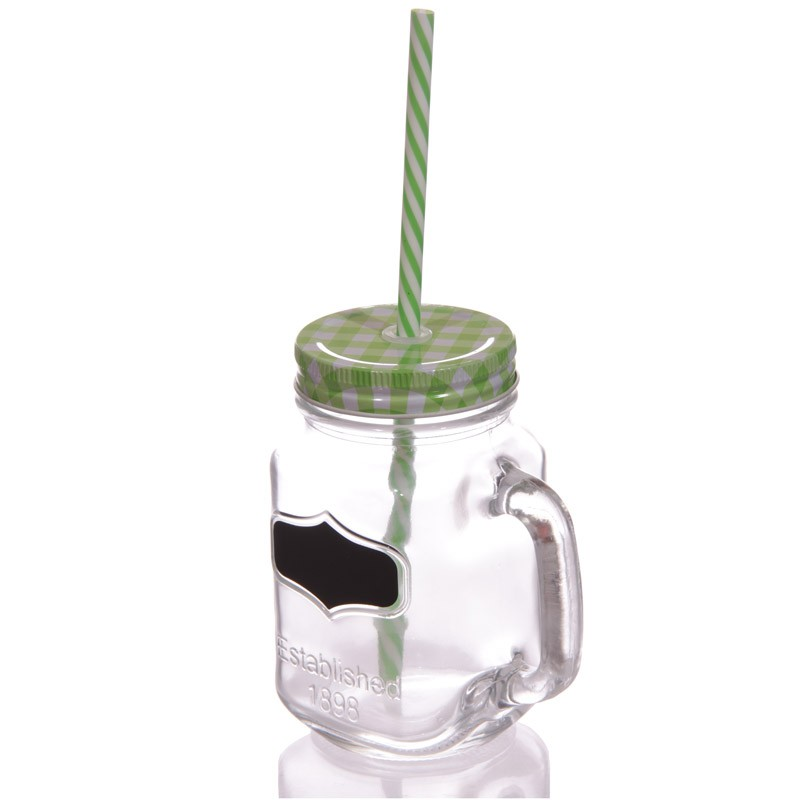 Vintage Drinking Jar and Chalkboard Green
