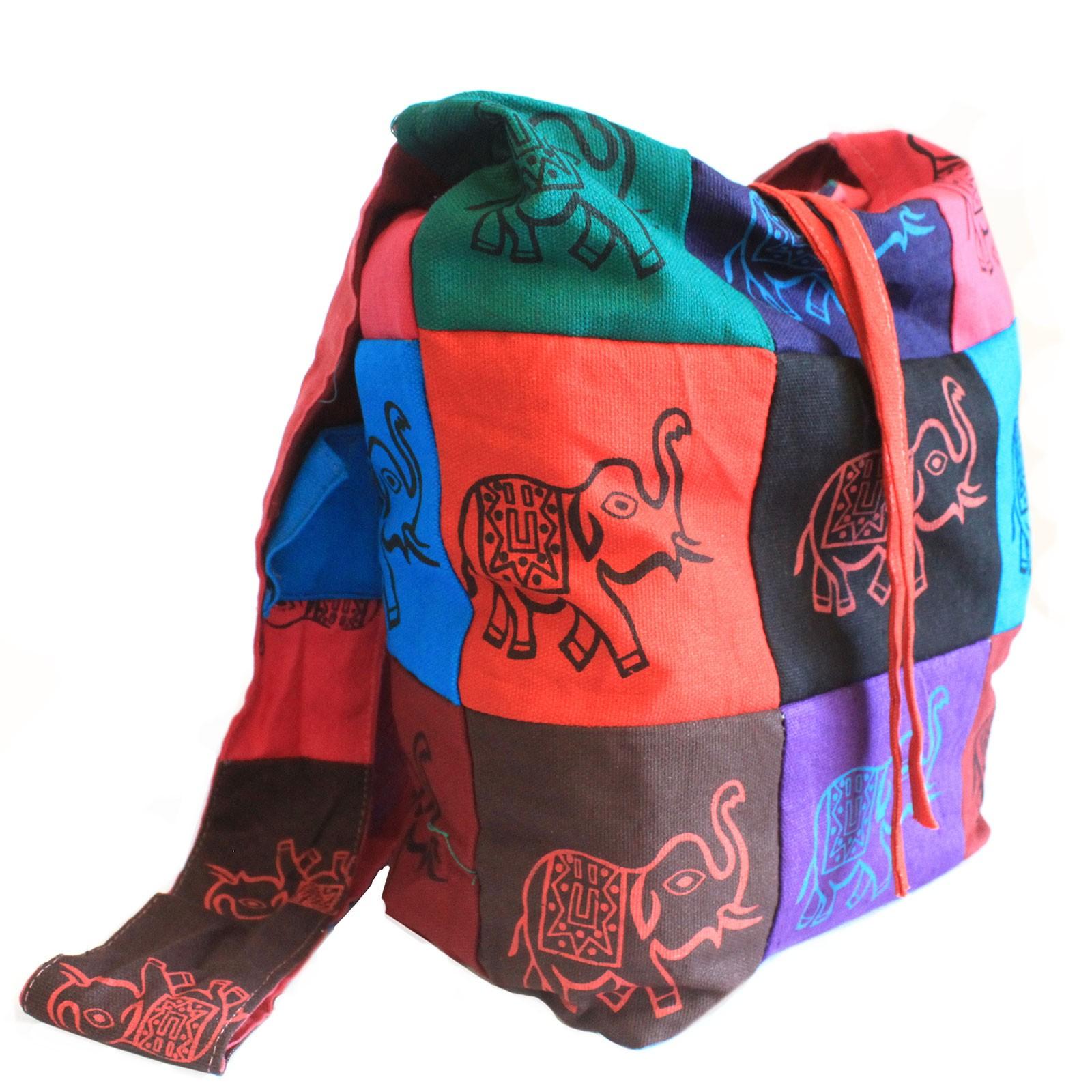Cotton Patch Sling Bags Elephant