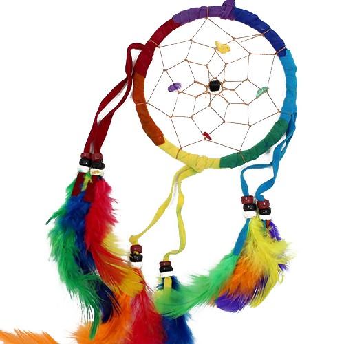 Bali Dreamcatchers Medium Round Rainbow