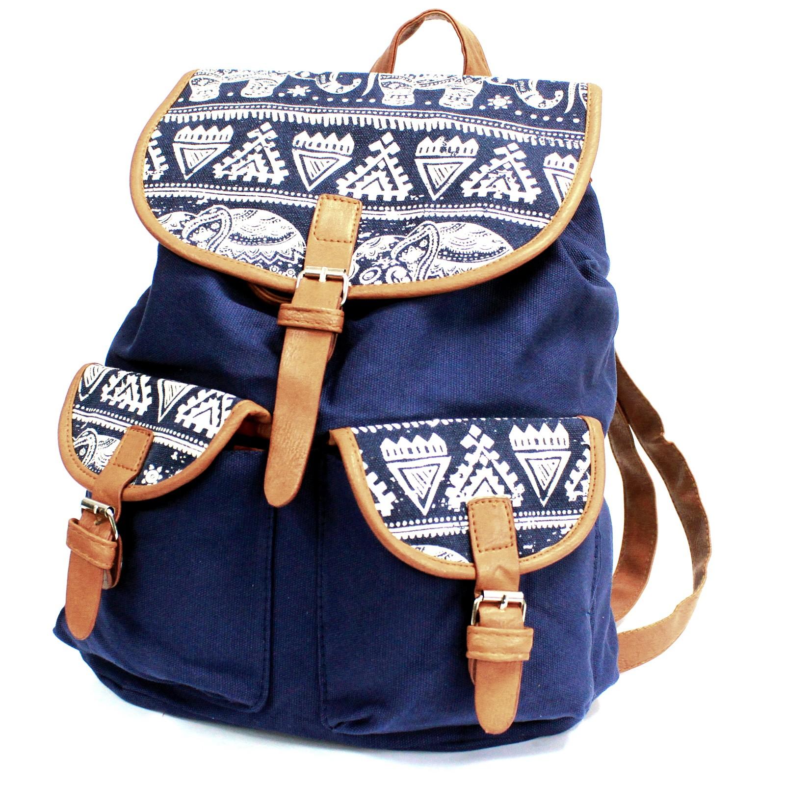 Traveller Backpacks 2 Pocket Blue Elephant