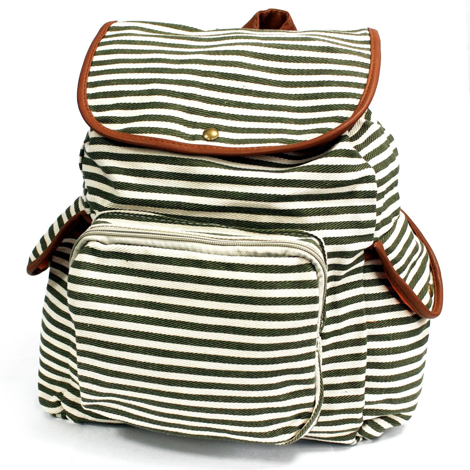 Traveller Backpacks 3 Pocket Olive Stripe
