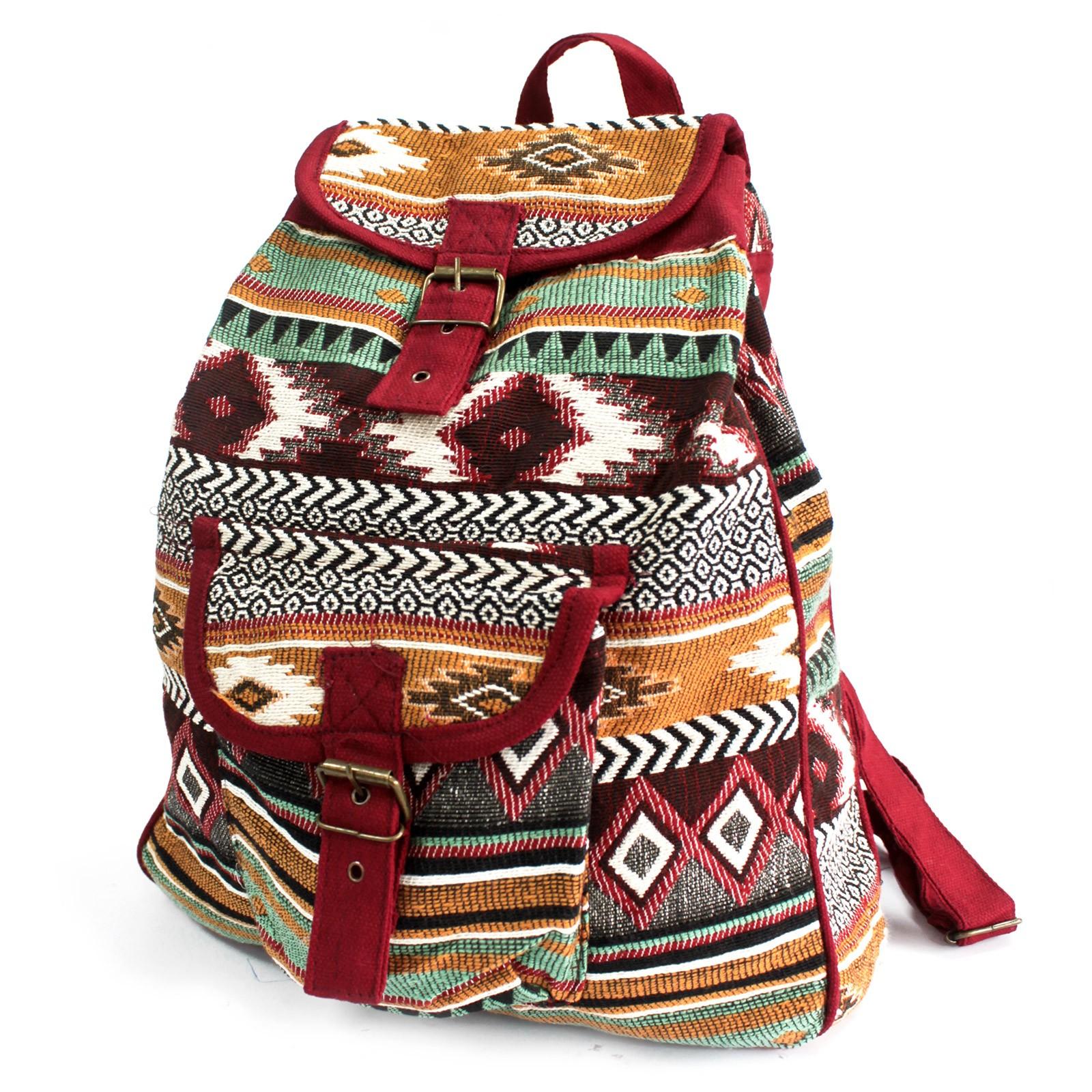 Jacquard Bag Chocolate Backpack