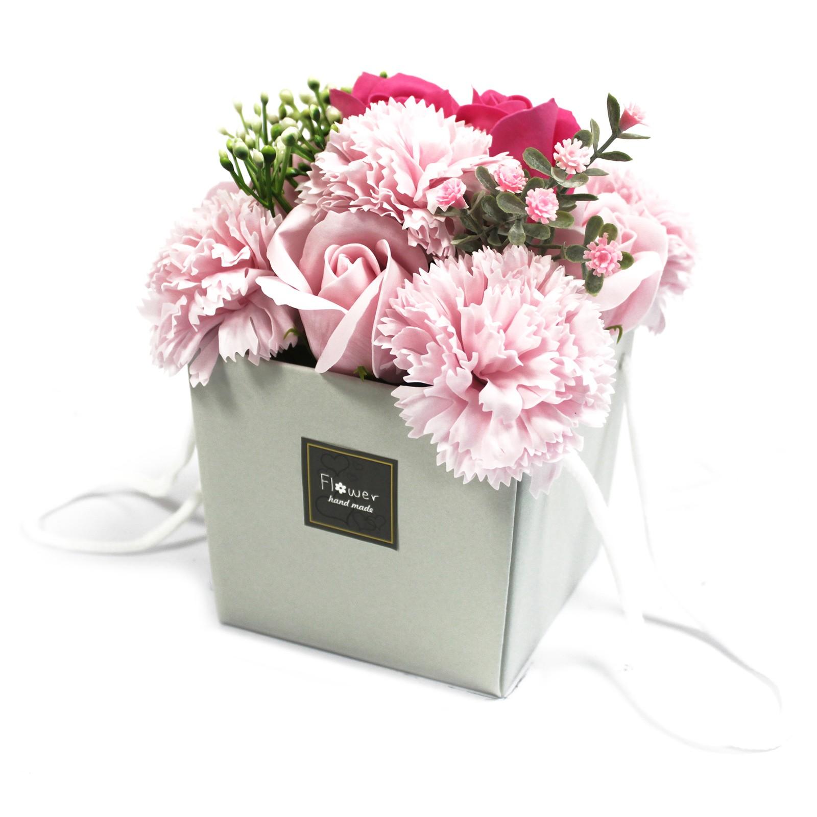 Soap Flower Bouquet Pink Rose   Carnation
