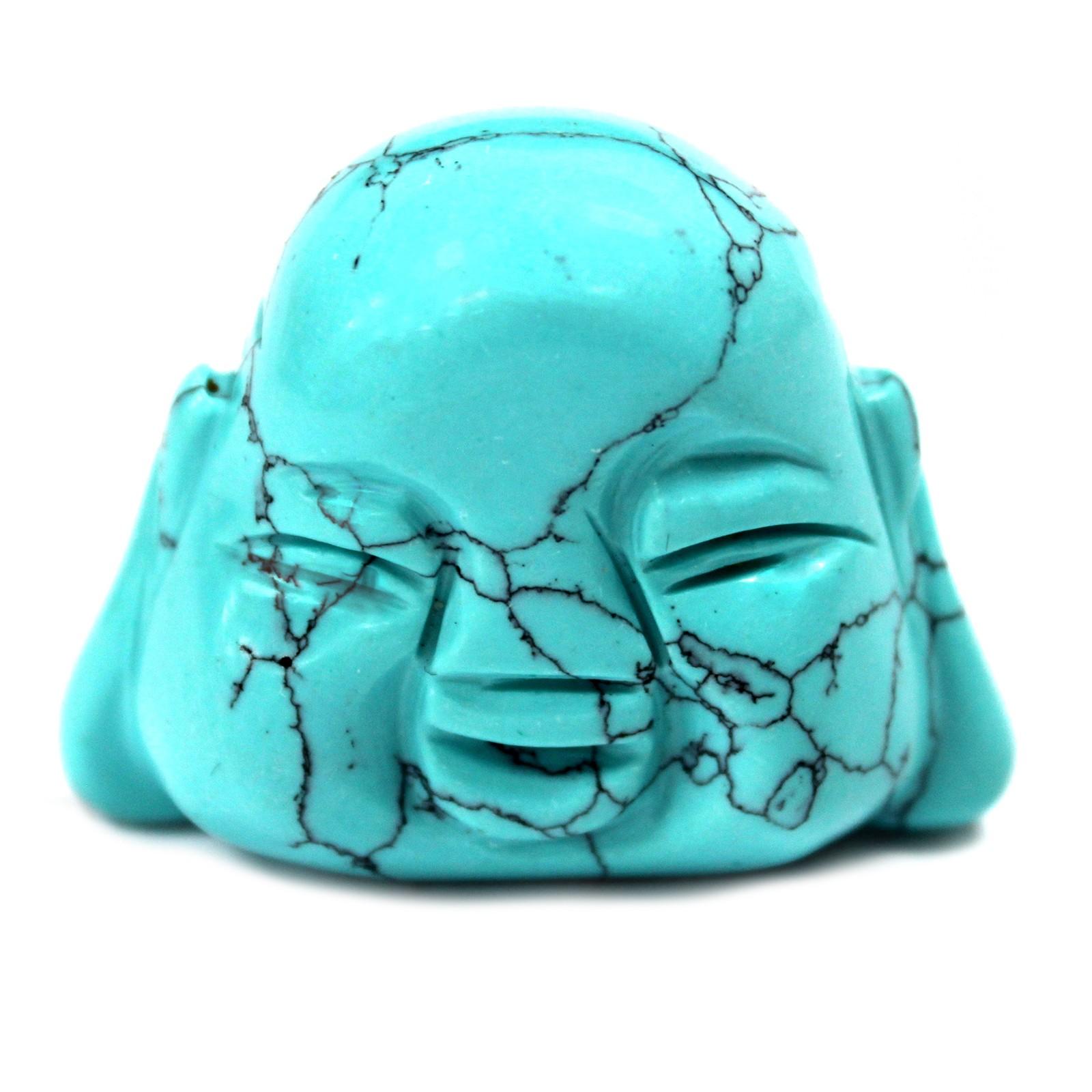 Gemstone Buddha Head Turquoise