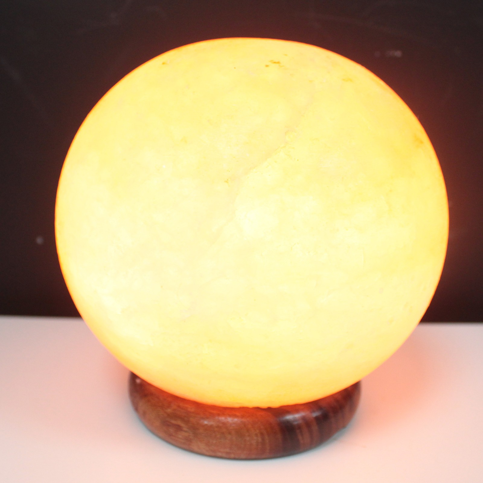 Salt Lamp Ball Big Wooden Base