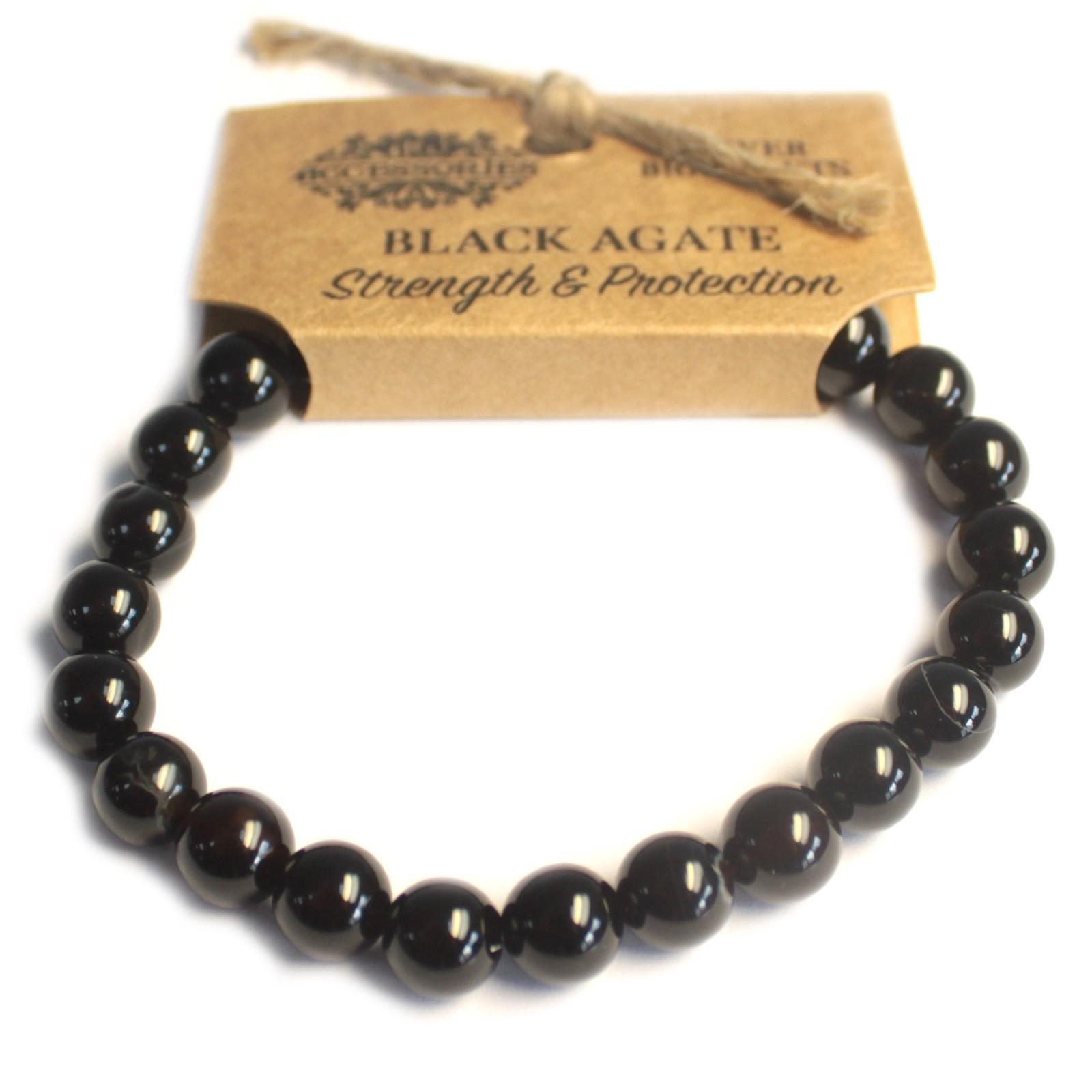Power Bracelet Black Agate