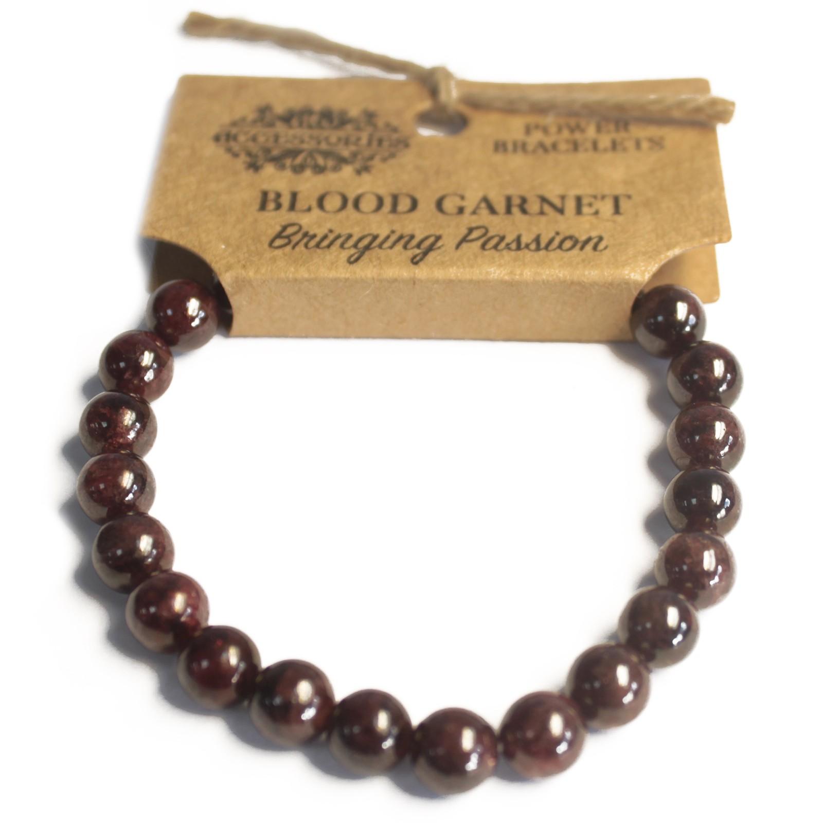 Power Bracelet Blood Garnet