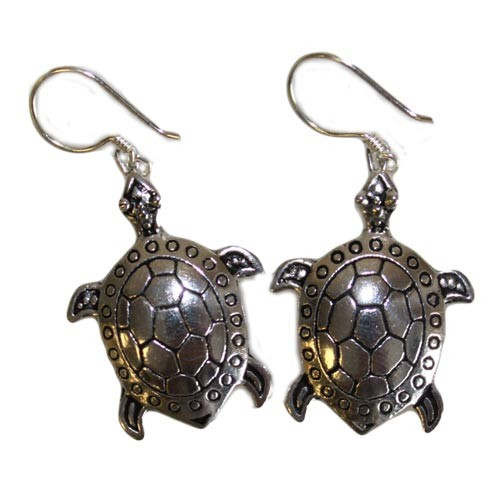Silver Earrings Turtles