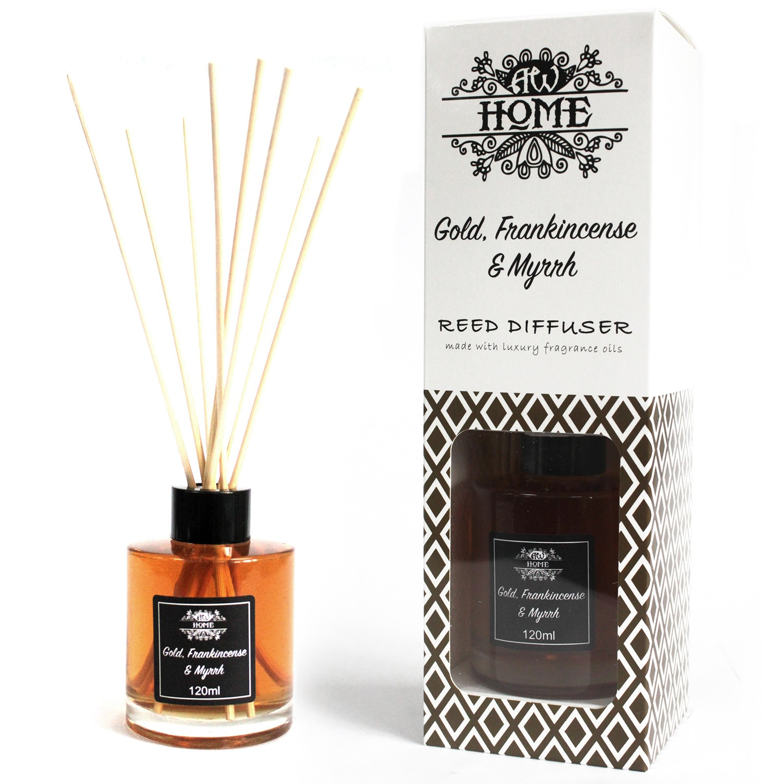 120ml Reed Diffuser Gold Frankincense  Myrrh