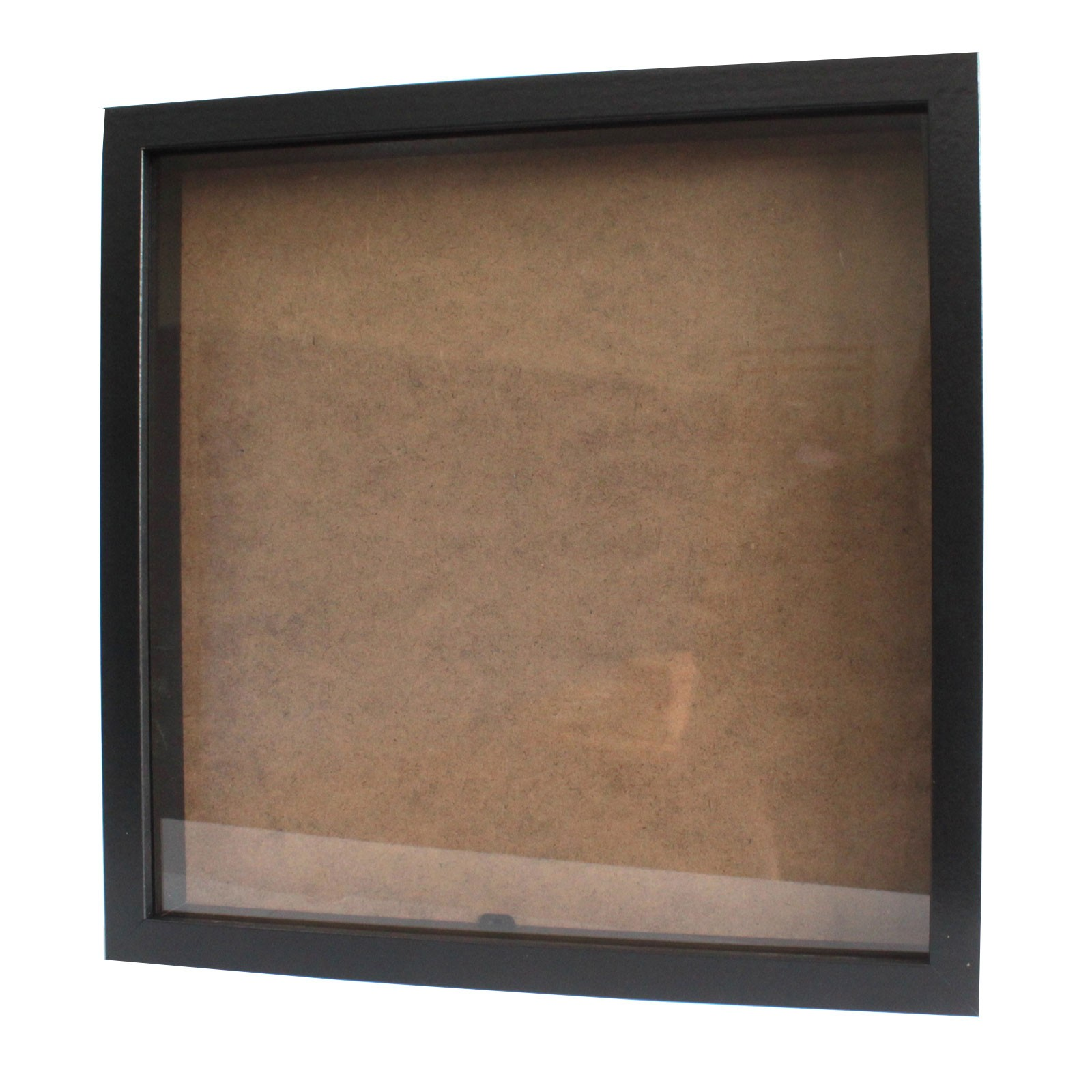 Deep Box Frame Large Square 34x34cm Black