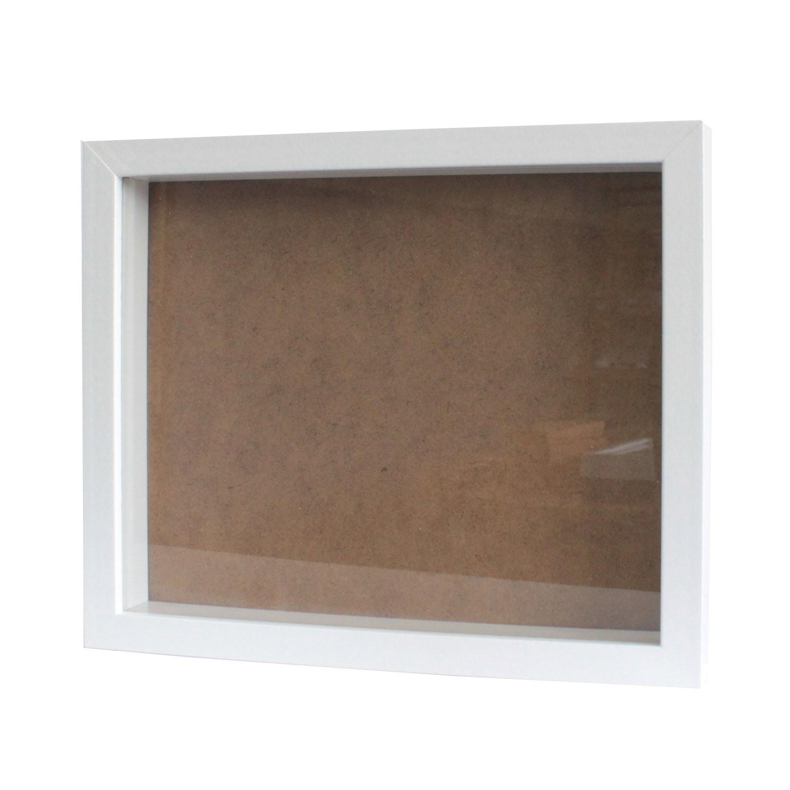 Deep Box Frame Large Portrait 25x30cm White