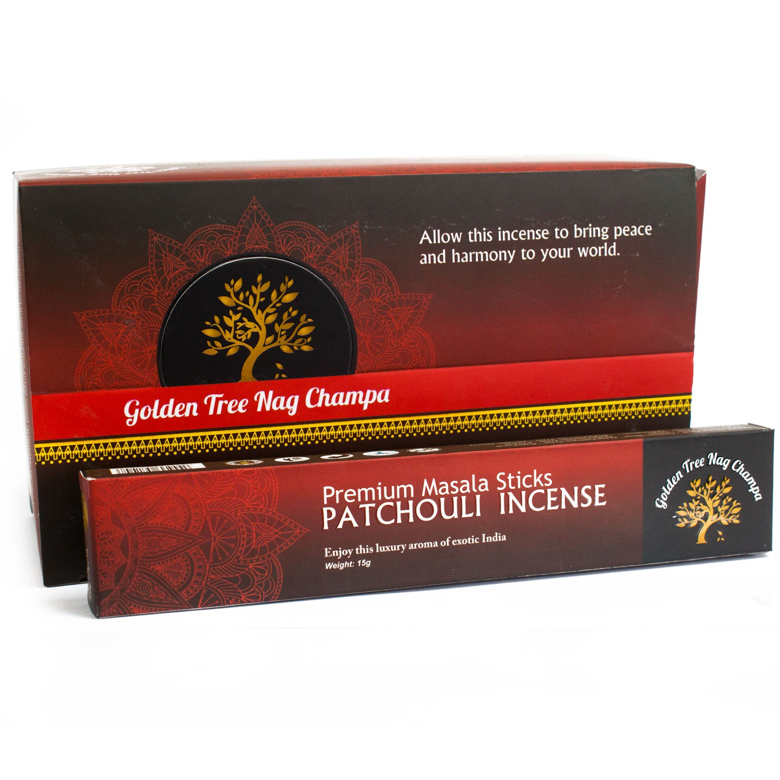 Golden Tree Nag Champa Incense Patchouli