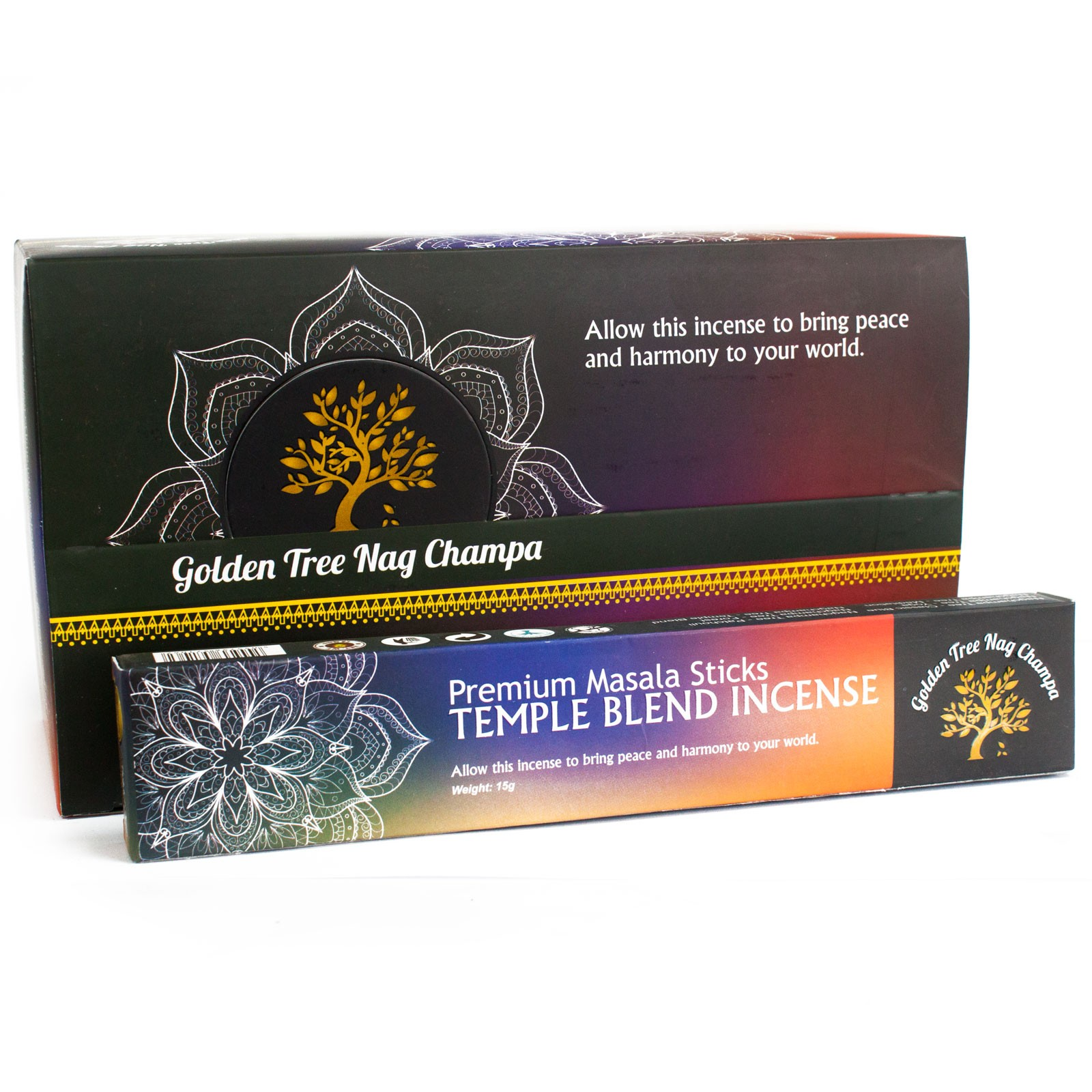 Golden Tree Nag Champa Incense Temple Blend