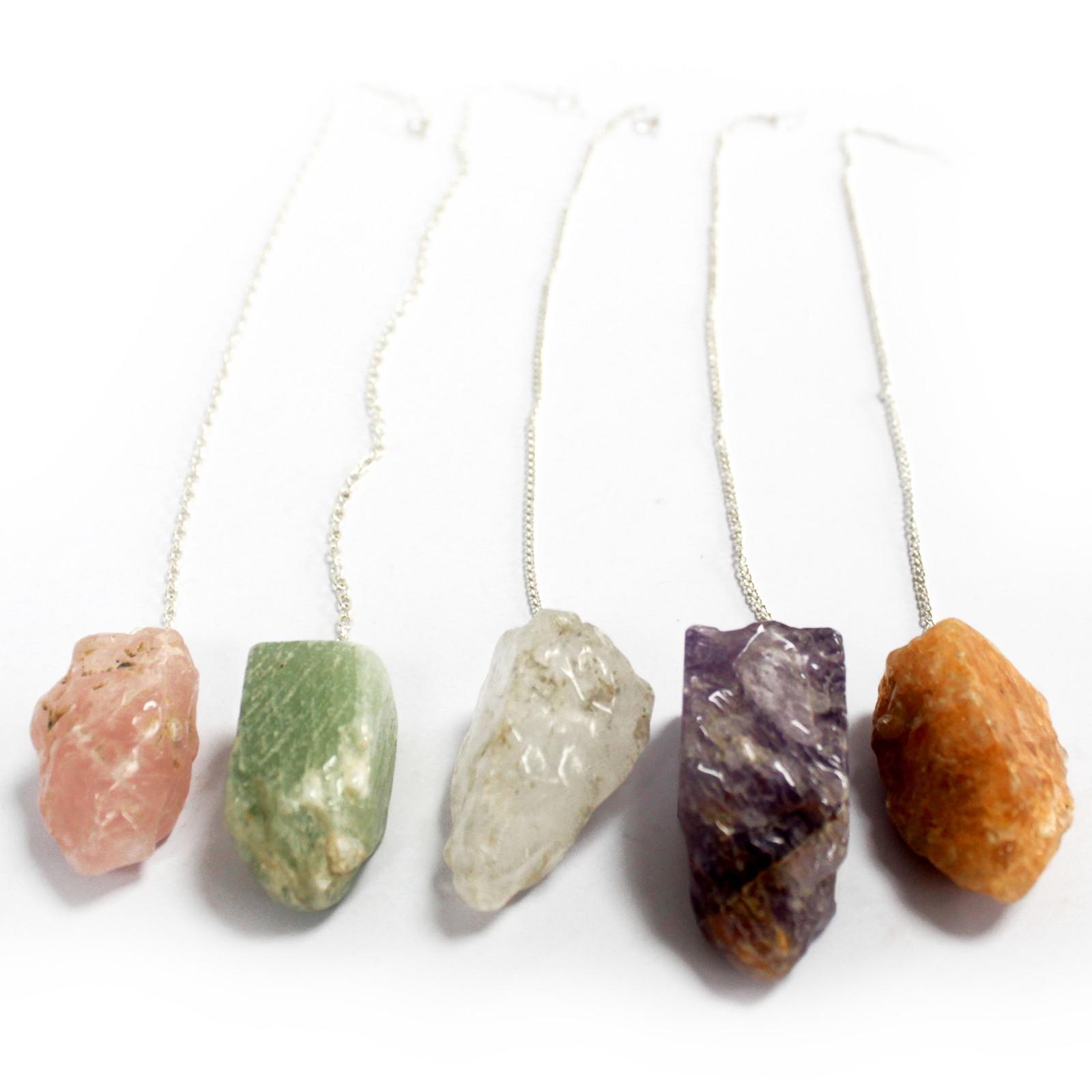 Natural Stone Pendulums Assorted