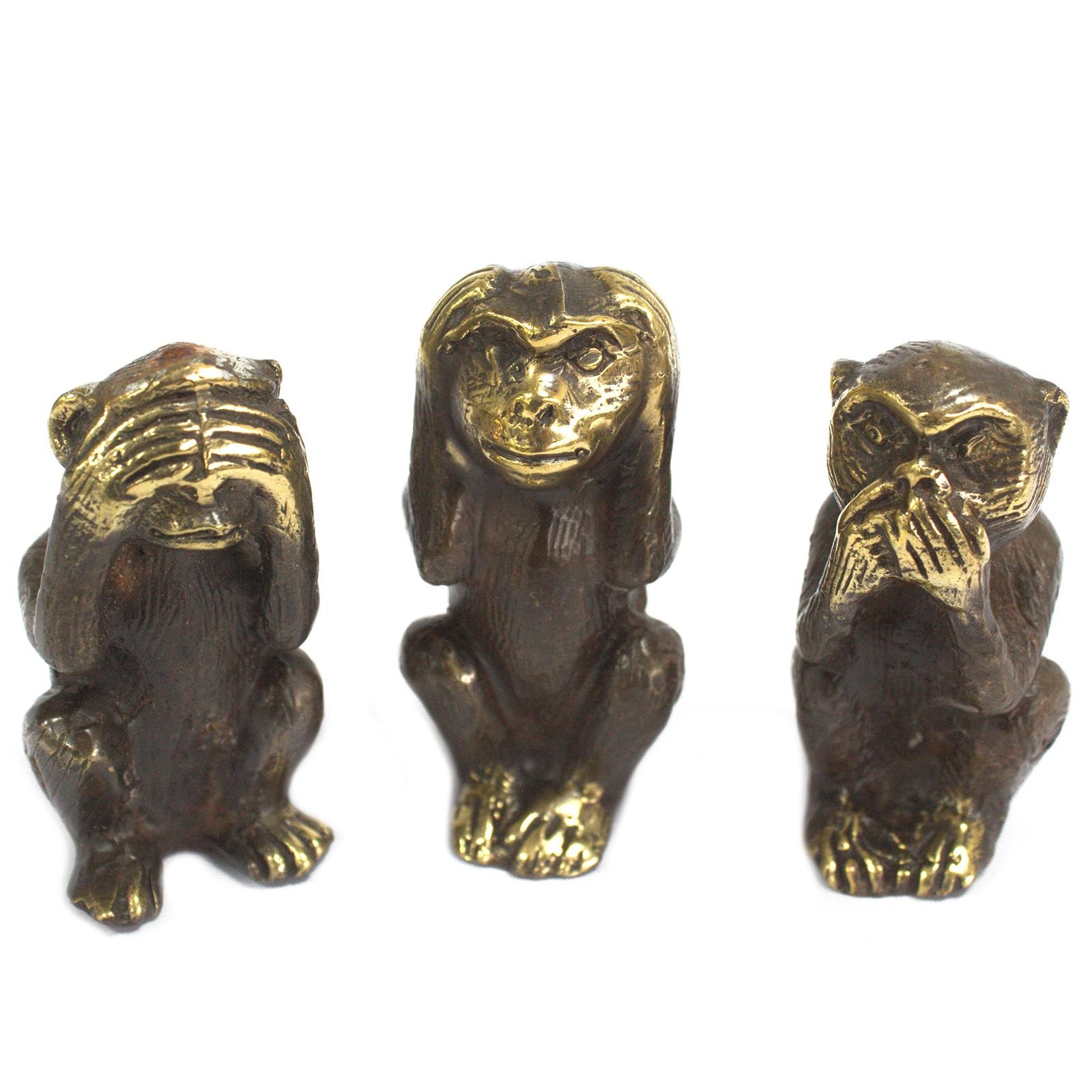 Set of 3 See No Evil etc Monkeys