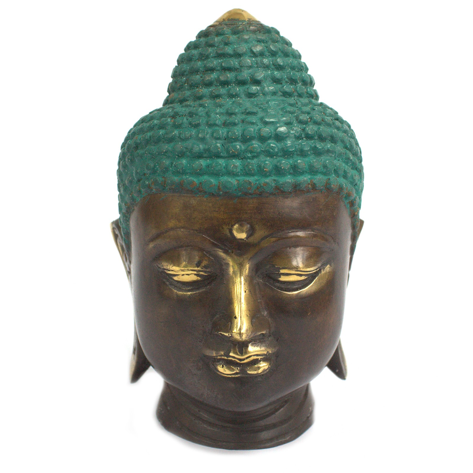 Large Classic Brass Buddha Head