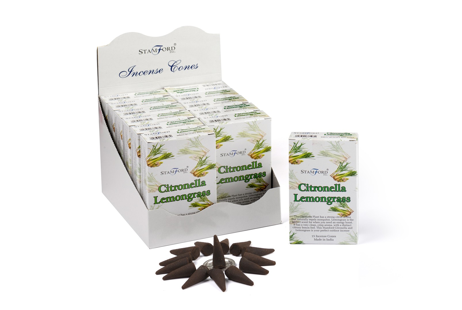 Citronella   Lemongrass Incense Cones