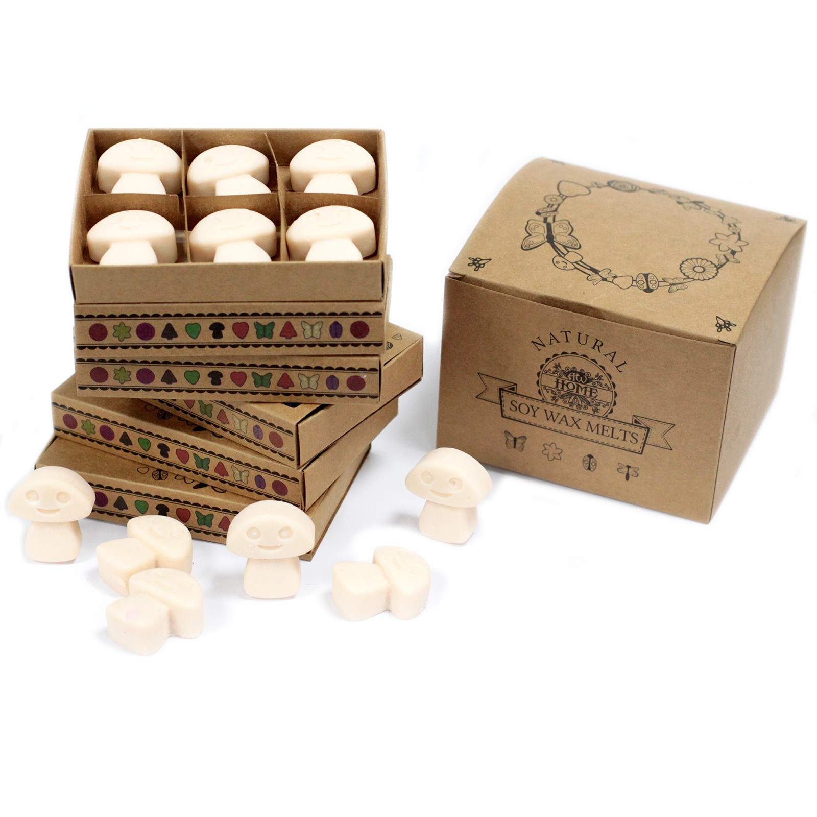 Box of 6 Wax Melts Vanilla Nutmeg