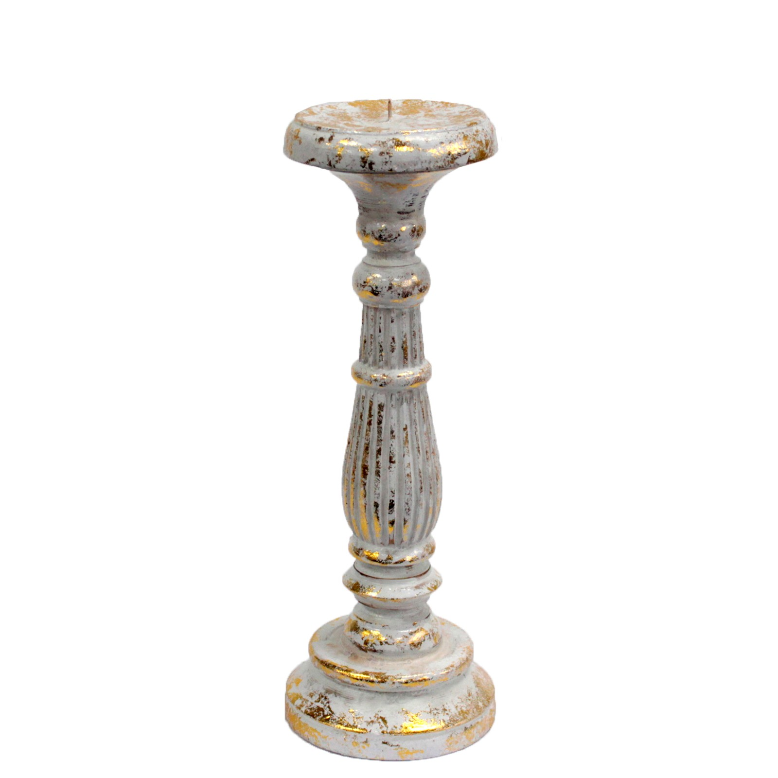 Medium Candle Stand White Gold