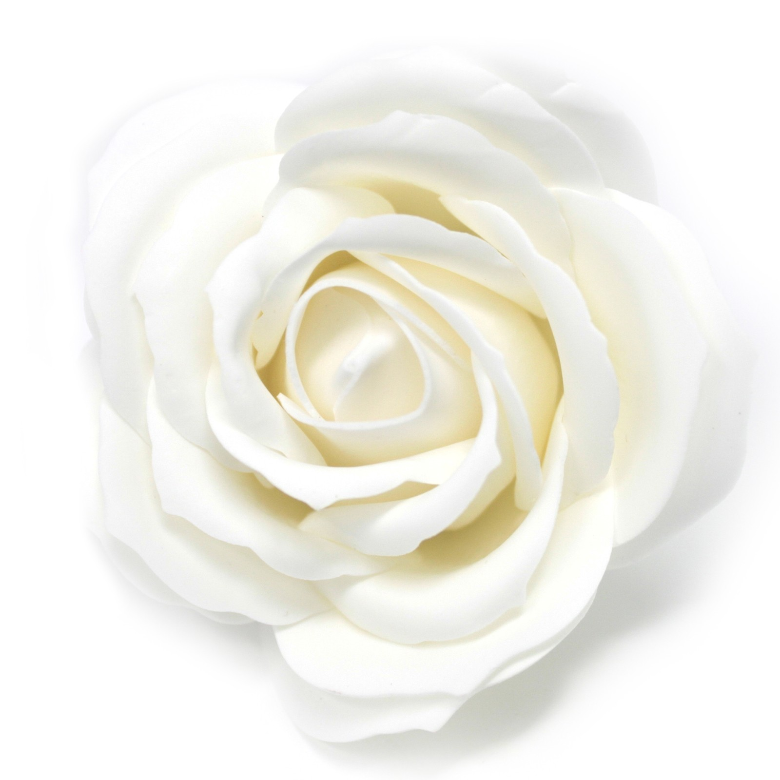 Craft Soap Flowers Lrg Rose White