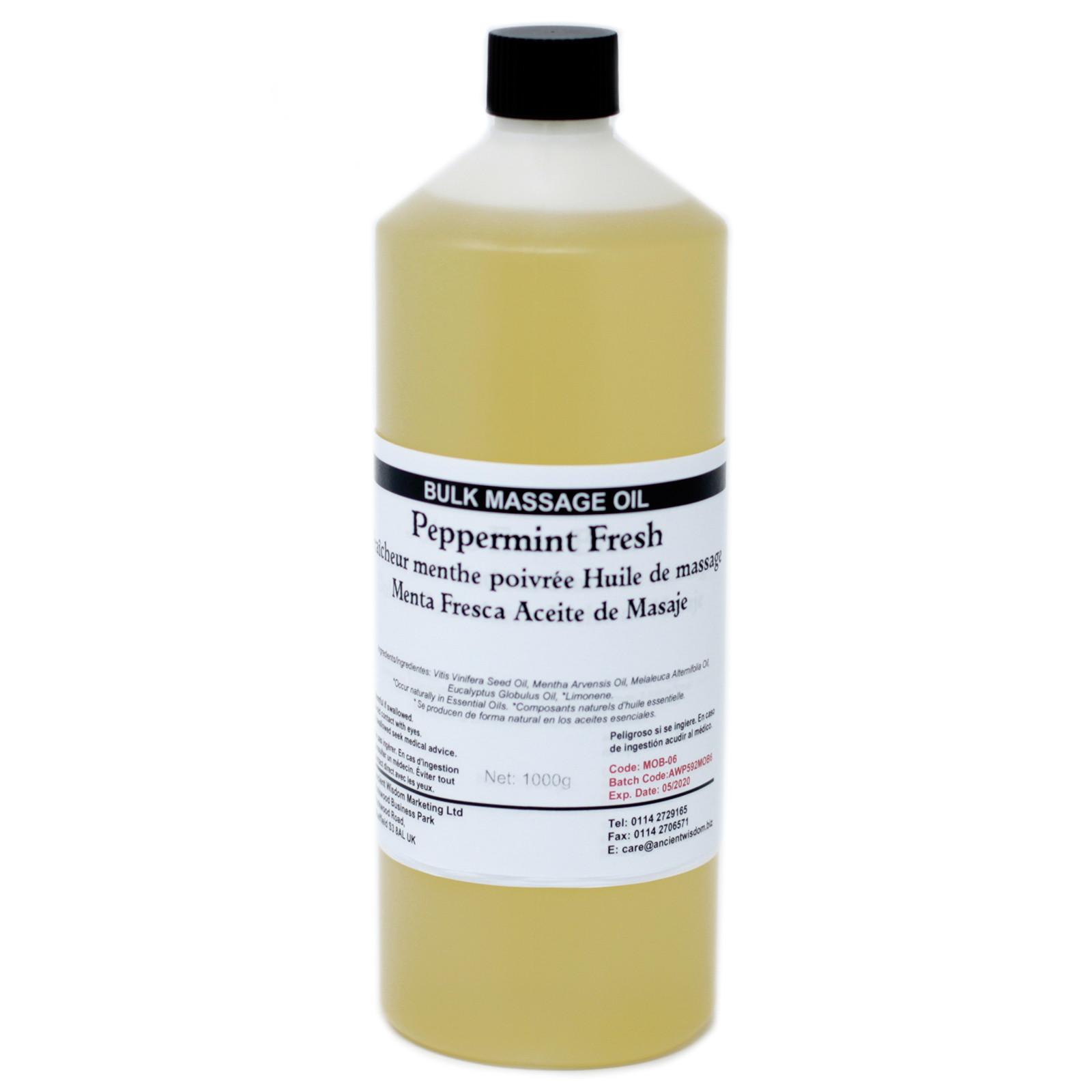 Peppermint Fresh 1Kg Massage Oil