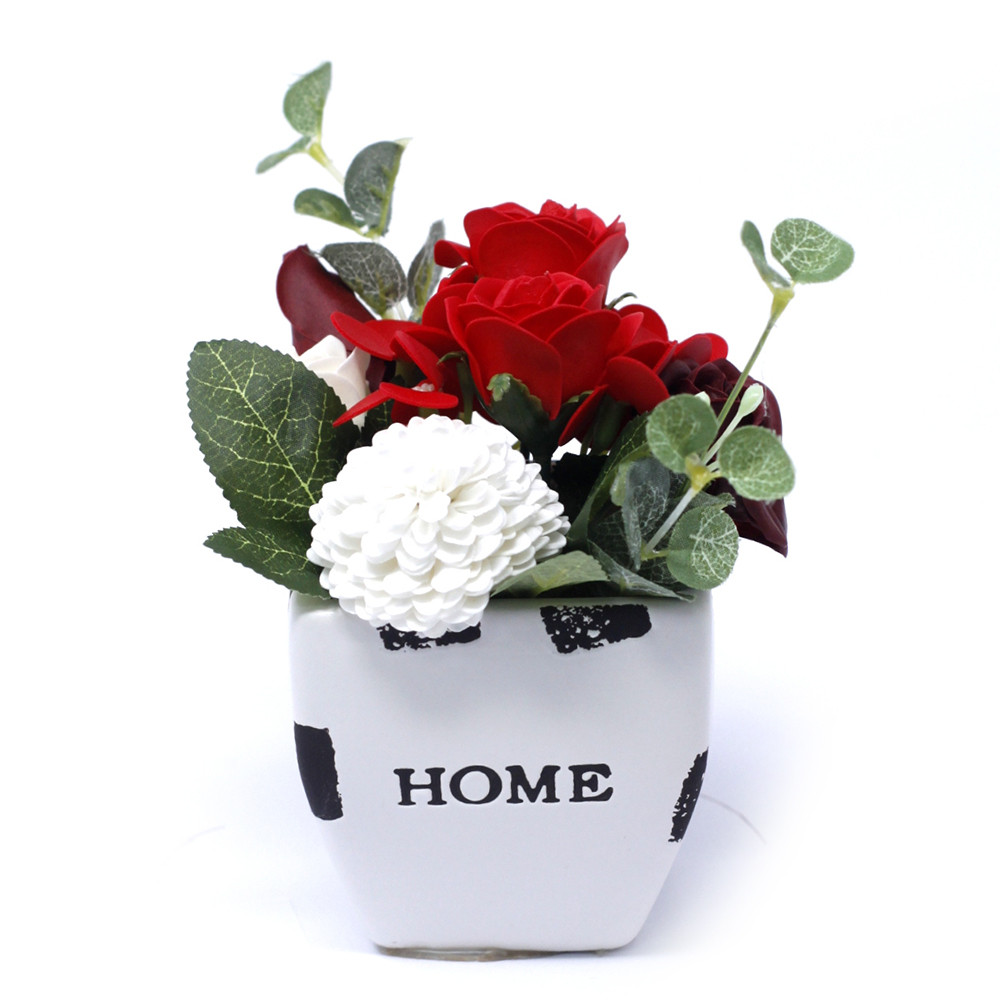 Bouquet Petite Flower Pot Rich Reds