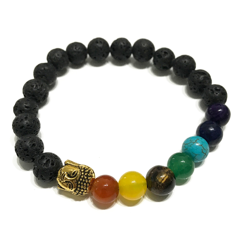 Lava Stone Bracelet Buddha Chakra