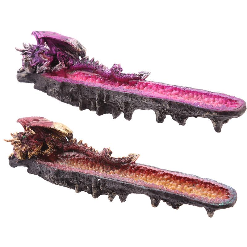 Geode Crystal Dragon Outcrop Incense Ashcatcher