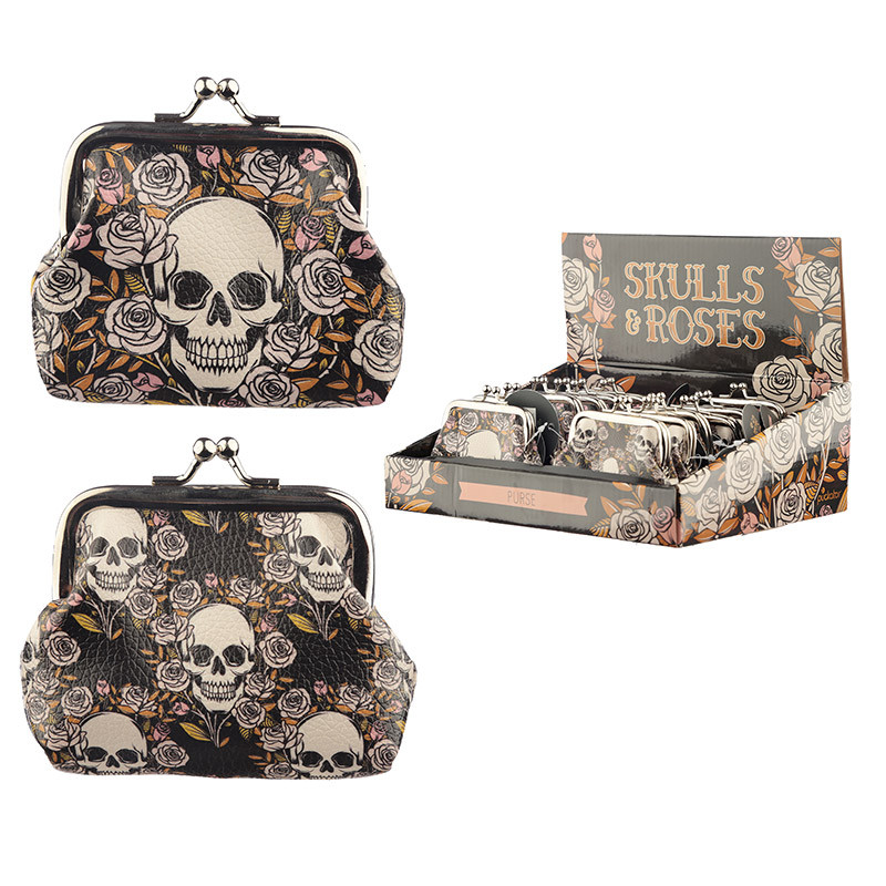 Skulls and Roses Tic Tac Purse