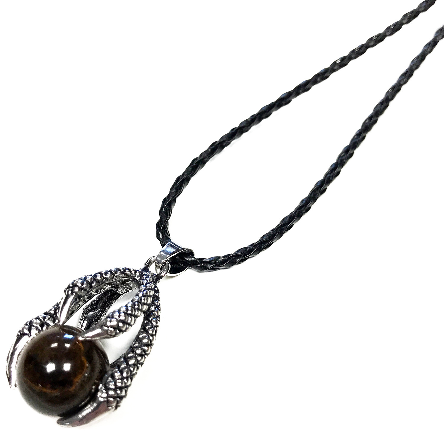 Lrg Dragon Claw Pendant Tiger Eye