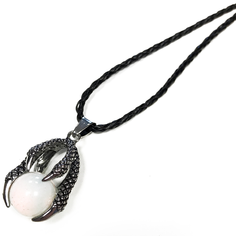 Lrg Dragon Claw Pendant Opalite