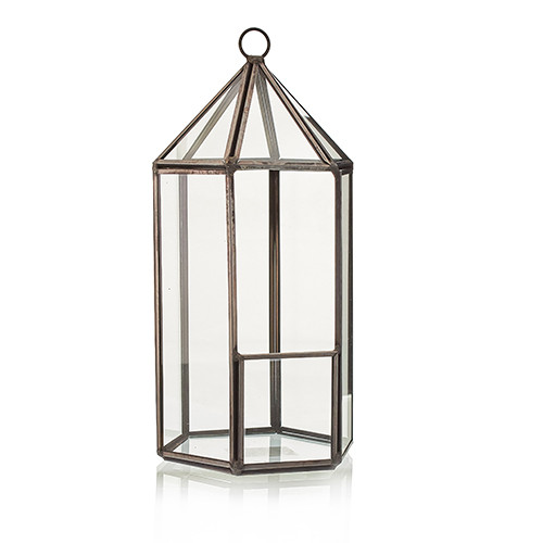 Glass Terrarium Lantern Shape