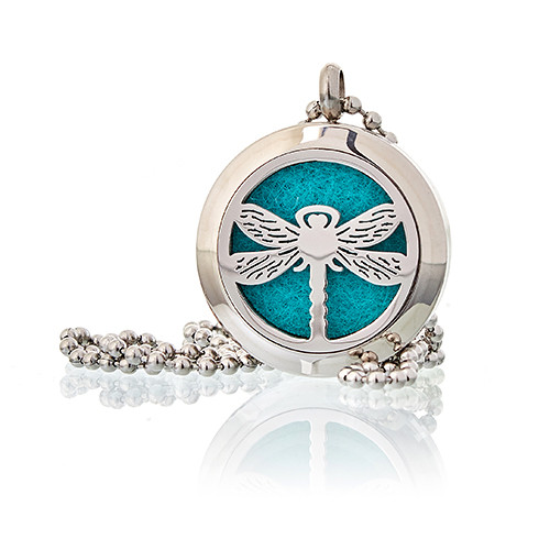 Aromatherapy Diffuser Necklace Dragonfly 25mm