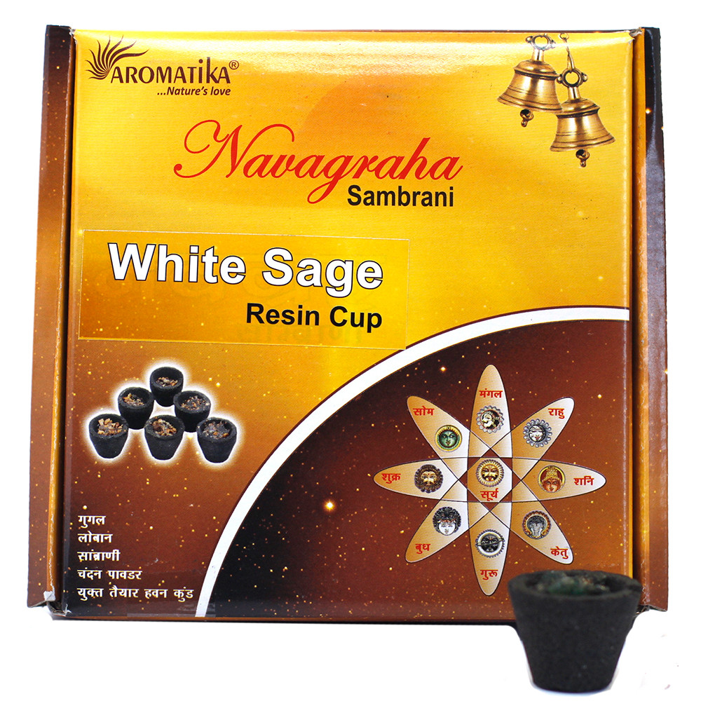 Box of 12 Resin Cups White Sage