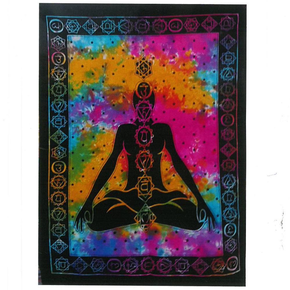 Cotton Wall Art Chakra Buddha