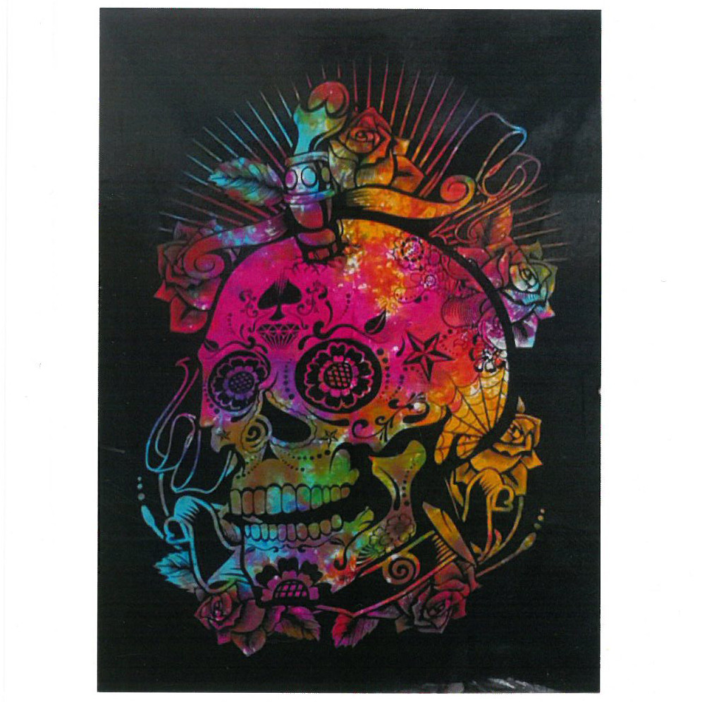 Cotton Wall Art Day of the Dead Skull