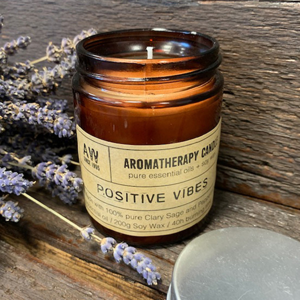 Aromatherapy Candle Positive Vibes