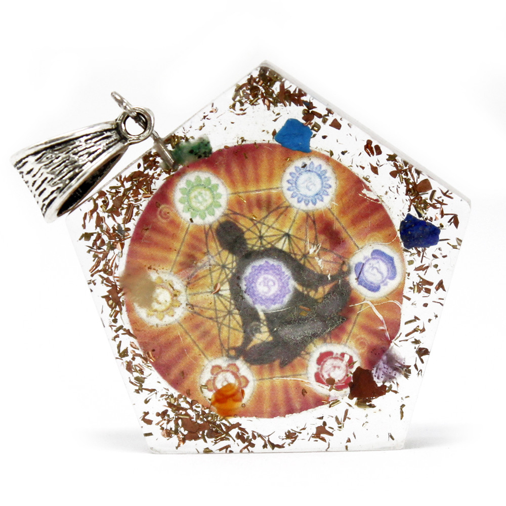 Orgonite Power Pendant Pentagon Chakra