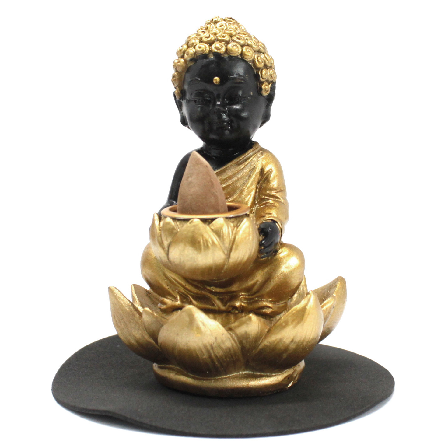 Buddha and Lotus Backflow Incense Burner