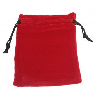 Quality Velvet Pouch Red 10x12cm