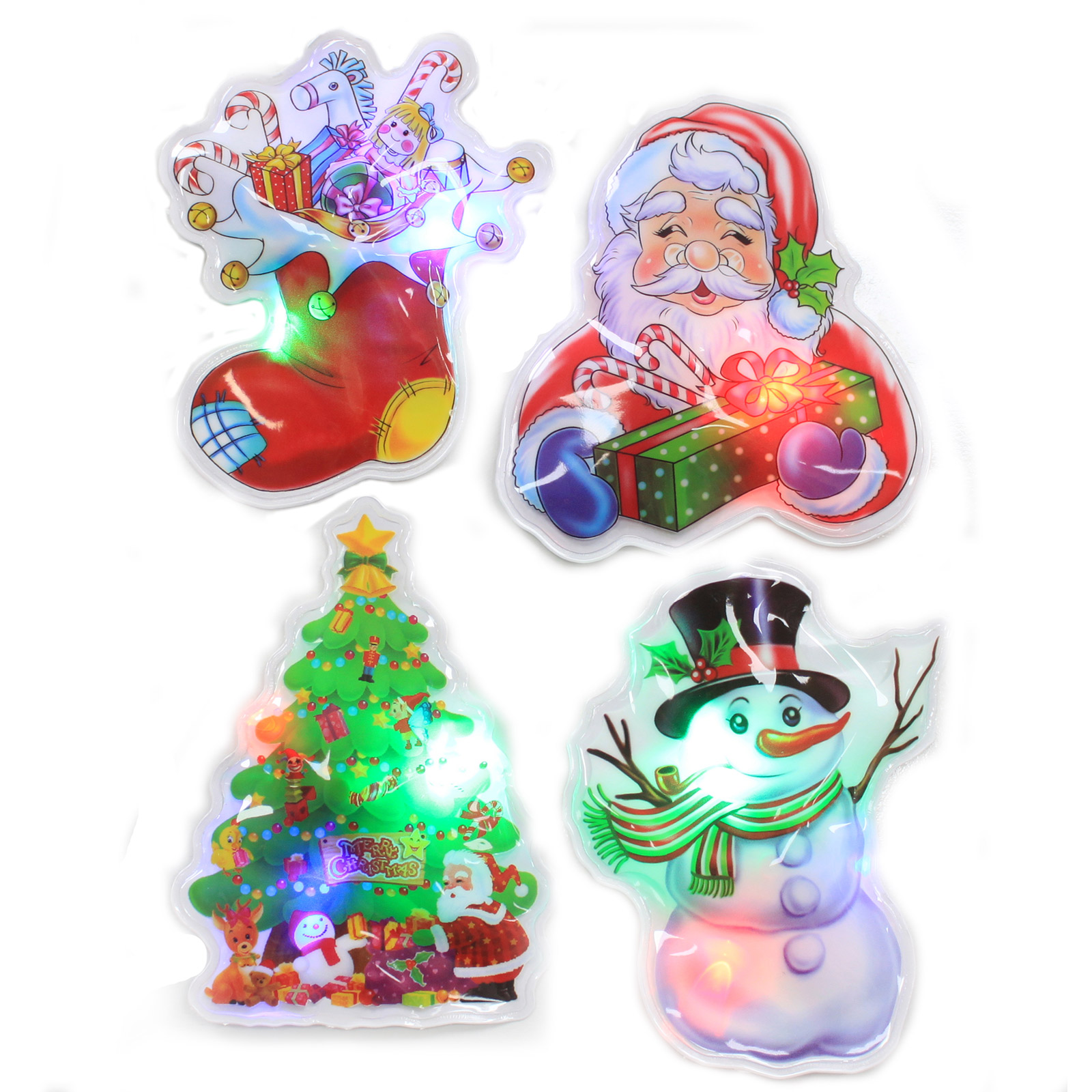 Flashing Christmas Stickers Selection 1