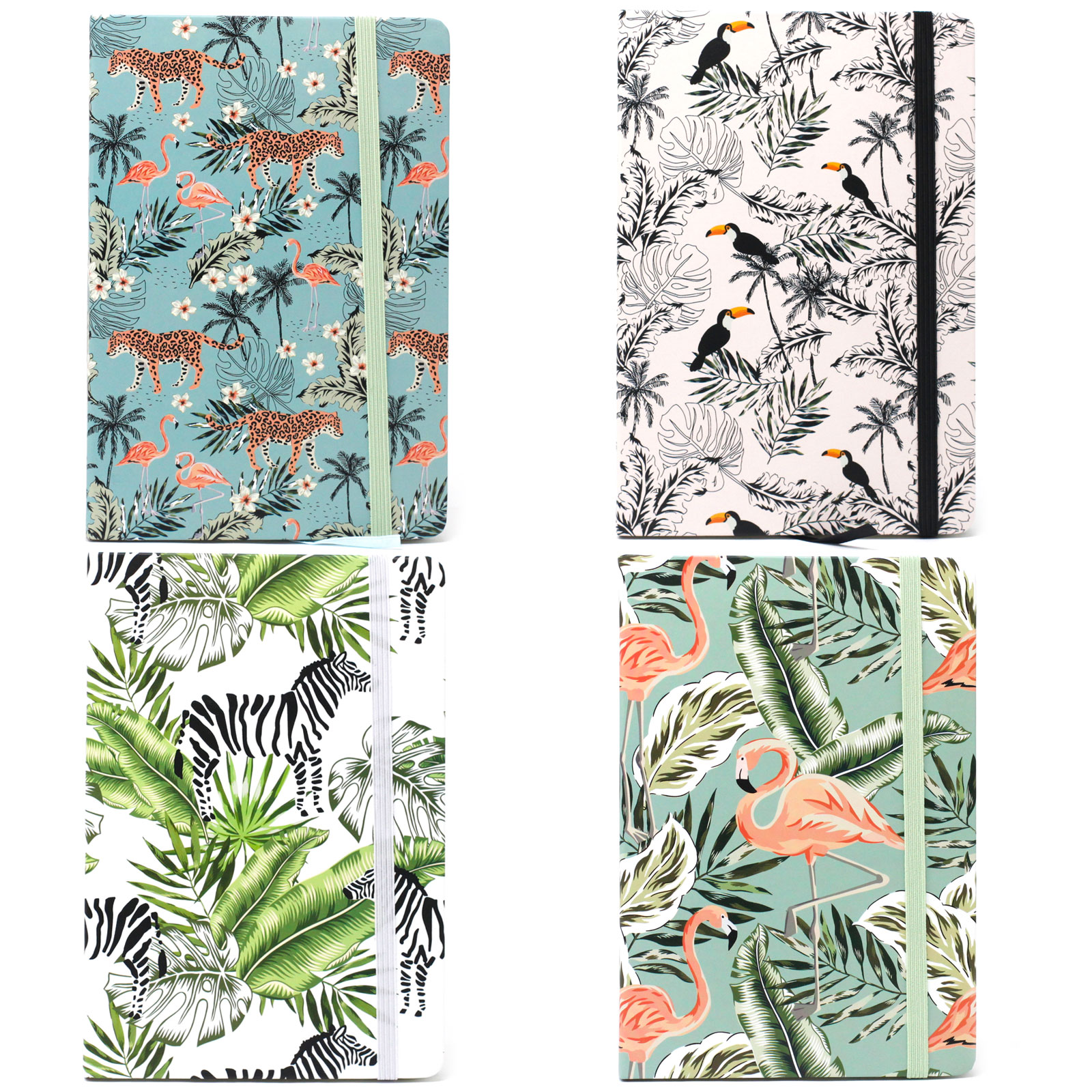 Cool A5 Notebook Assorted Designs Vintage Tropical
