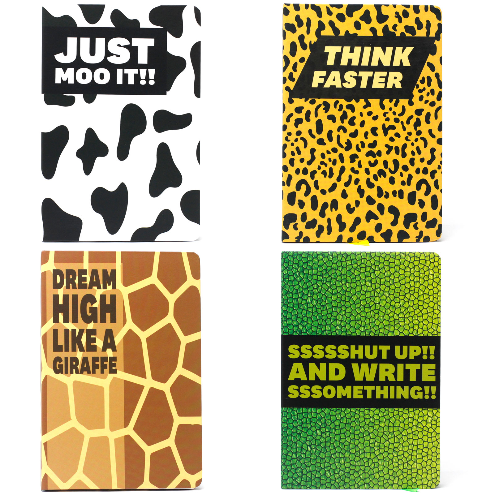 Cool A5 Notebook Assorted Designs Animal Encouragement
