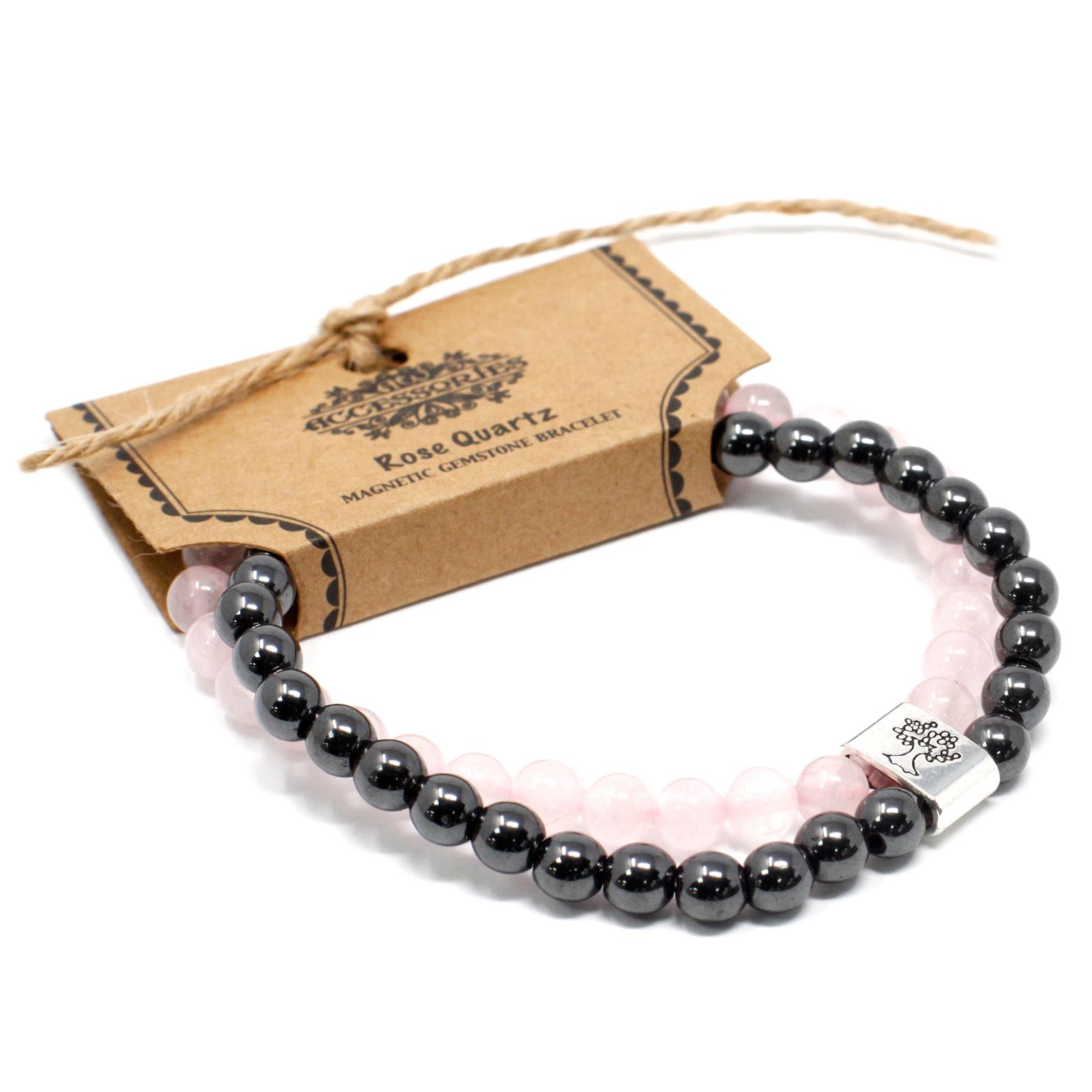 Magnetic Gemstone Bracelet Rose Quartz